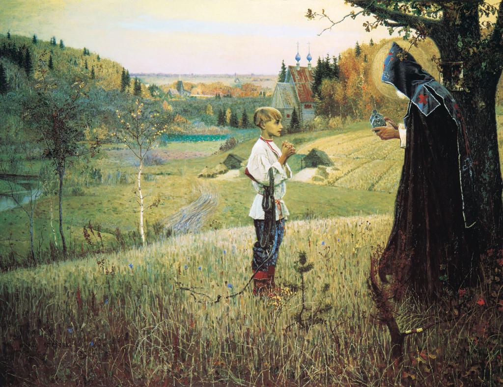 «Видение отроку Варфоломею». Картина художника М.В.Нестерова.